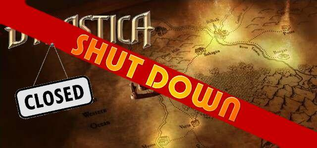 Dynastica - logo 640 shut down