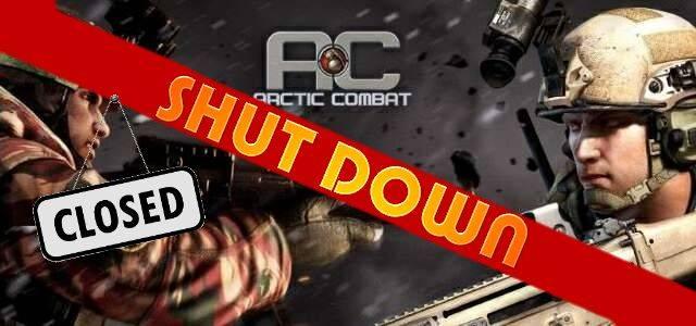 Arctic Combat - logo 640 shut down