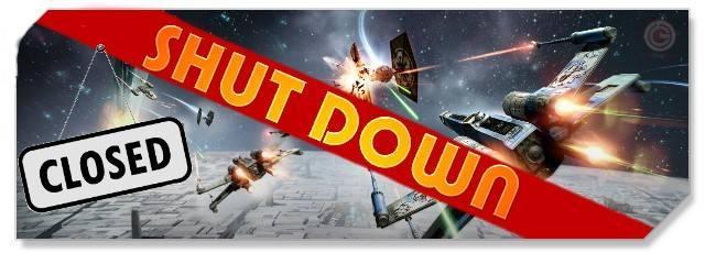 Star Wars Attack Squadrons - logo - shutdown - f2p