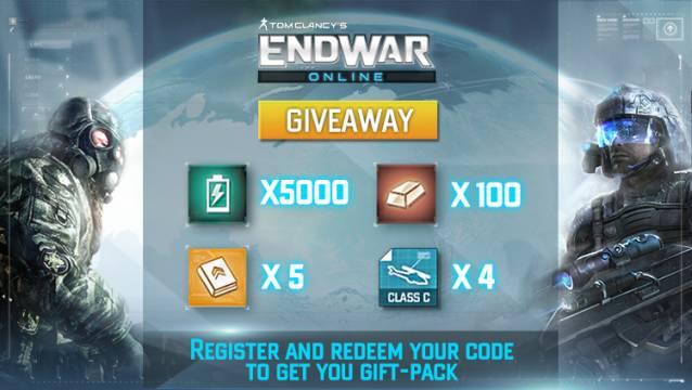 EndWar Online - Giveaway image