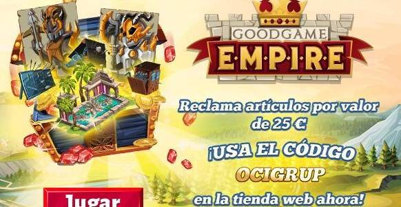 Goodgame Empire Giveaway aquí en JuegaEnRed.com