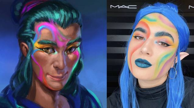 Elvenar Hallowenn MAC cosmetics Avatar Luisa Human