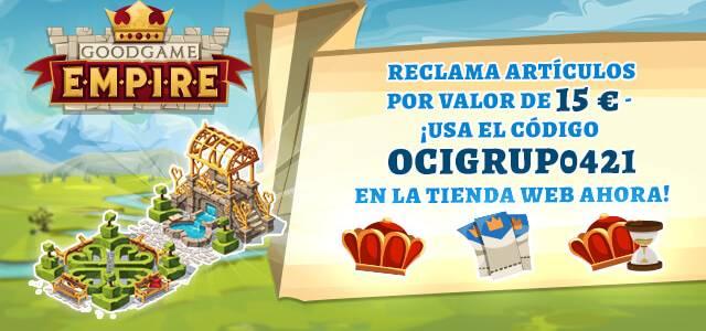 Goodgame Empire 15€ de Regalo