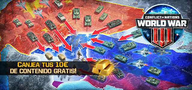 Conflict of Nations 10 Euros Gratis
